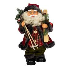 Новогодняя сувенирная <b>фигурка</b> Дед Мороз в красной шубе с ...