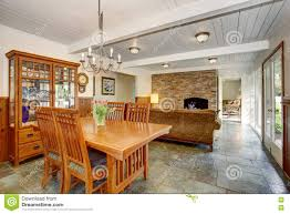 Family Dining Room House Interior With Open Floor Plan Including Dining Room Living