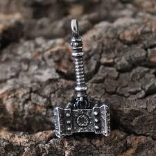 <b>Viking</b> Mjolnir <b>Hammer</b> Runes <b>Stainless Steel</b> Pendant Necklace ...
