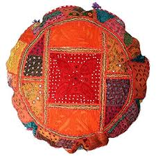Pink ANJANIYA 22 Beautiful Bohemian <b>Round</b> Indian <b>Patchwork</b> ...