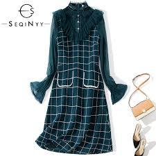 SEQINYY Casual Dress 2020 Spring Autumn New Fashion Design ...