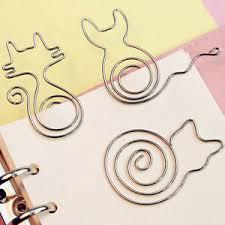 <b>10pcs</b>/<b>lot Creative</b> Cute Paper Clips Bookmark Memo Clip Office ...