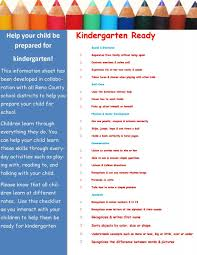 education united way of reno county k ready reno county kindergarten checklist