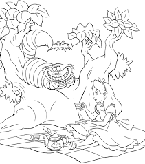 Small Picture Alice In Wonderland Coloring Pages Tim Burton Coloring Pages