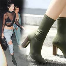 Online Shop <b>Prova Perfetto</b> 2018 Spring New High Heel Elastic Boot ...