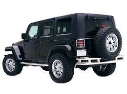 Smittybilt Jeep Wrangler Tubular <b>Rear Bumper</b> w/o Hitch - <b>Stainless</b> ...