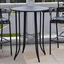 table bar height chairs diy:  outdoor bar table and chairs mandalay iron antique black bar height patio bar table t ep