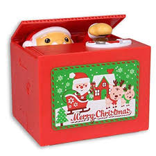 Stealing Coin Santa Claus Box, Samapet Piggy Bank Merry ...