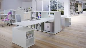 awesome modern office home designs interior decorating ideas with cool white painted wooden storage work table bright office room interior