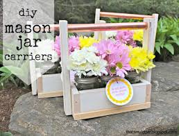 build diy mason jar carrier build diy mason