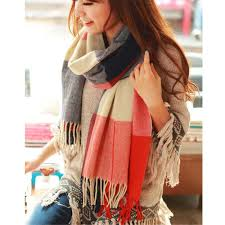 190*50cm Winter Female <b>Wool Plaid Scarf Women</b> Cashmere ...