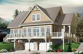 Mountain house plans  amp  ski chalets from DrummondHousePlans comThe Pocono bedroom Lakefront Cottage Style house plan   solarium