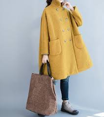 <b>Women</b> winter Clothing <b>oversized loose</b> double breasted wool coat ...