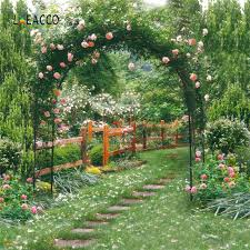 Online Shop <b>Laeacco</b> Garden Green <b>Flowers</b> Vines Arch Gate ...