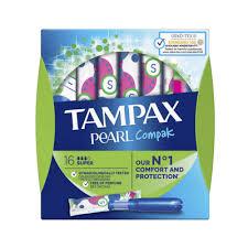 <b>Тампоны Tampax Compak Pearl</b> Super 3 капли 16 шт - купить в ...
