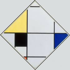 Lozenge Composition with Yellow, <b>Black</b>, <b>Blue</b>, Red, and Gray - Piet ...