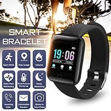 Man Women Smart Watch <b>116 Plus</b> Hr Blood Pressure Oxygen ...