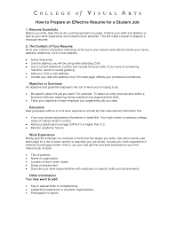 how to prepare resume getessay biz how to prepare an effective for a student throughout how to prepare