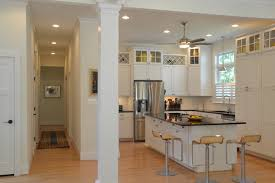 flush mount ceiling fan with light kitchen contemporary with barstools black marble countertops baseboards ceiling fan
