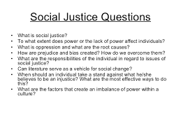 essential questions for students social justice