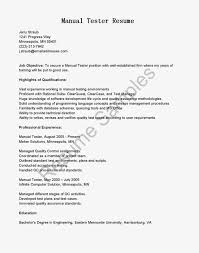 sample resume qa manual testing serversdb org sample resume manual testing 1 year experience
