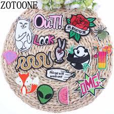 <b>ZOTOONE</b> Alien White Cat Rose Panda Snake Hand Spider <b>Patch</b> ...
