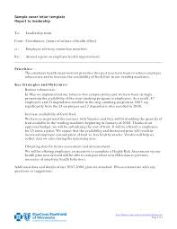 cover letter report template cover letter report