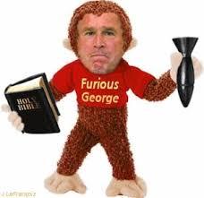 Image result for george bush chimp