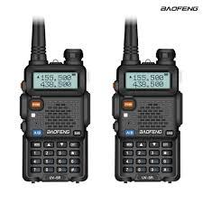 2Pcs Baofeng UV 5R Two Way Radio <b>Mini Portable</b> 5W Dual Band ...