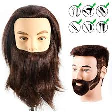 HAIREALM <b>Male</b> Mannequin Head With <b>100</b>% <b>Human Hair</b>
