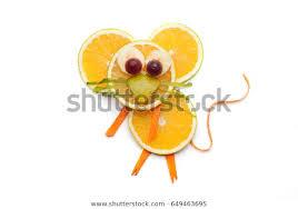 Food art <b>creative</b> concepts. <b>Cute mouse</b> made of <b>fruits</b> and ...