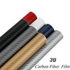 Buy 127cmx30cm 3D <b>Carbon Fiber</b> Vinyl Protector <b>Car</b> Film ...