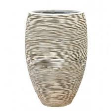 <b>Кашпо Capi</b> Nature Vase elegant deluxe <b>Rib</b> ivory