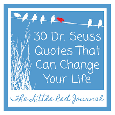 Funny Quotes: The Little Red Journal Dr Seuss Quotes Change Your Life