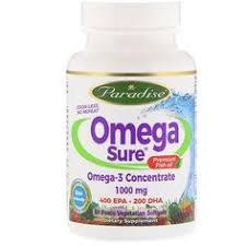 Paradise Herbs, <b>Omega Sure</b>, <b>Omega</b>-<b>3</b> Concentrate , 1,000 mg, 60 ...
