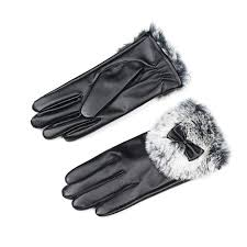2019 <b>Winter Autumn</b> Warm <b>Women Butterfly</b> Gloves PU Leather ...
