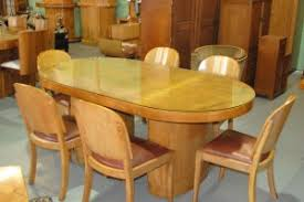 oval dining table art deco: art deco dining table and  chairs