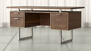 clybourn walnut executive desk buy home office furniture give