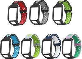 <b>Replacement Two</b>-<b>Color</b> Silicone <b>Wrist</b> Strap Watchband Bracelet ...