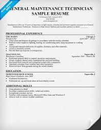 Maintenance Technician Resume Sample Resume Objective Examples ... sample resume objective for maintenance worker sample resume objective for maintenance worker