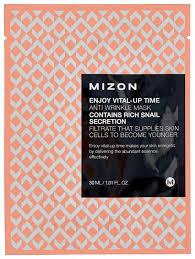 Тканевая <b>маска Mizon Enjoy Vital</b>-Up Time Anti Wrinkle (1 шт.) 30 мл