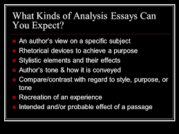 the rhetorical analysis essay ap english language and composition    what kinds of analysis essays can you expect  an author    s view on a specific subject