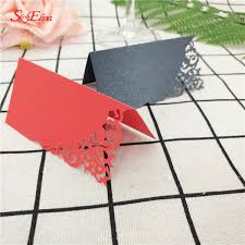 10 50 <b>100Pcs</b> Laser Cut fashion <b>Seat Cards</b> Table Name Cards ...