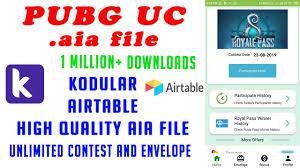 ( <b>2019</b> ) Free <b>PUBG</b> UC App aia file   <b>High Quality</b> Dynamic aia file 1 ...