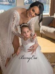 Ivory Tulle <b>Lace</b> A-line Cute <b>Flower Girl</b> Dresses – Berryera