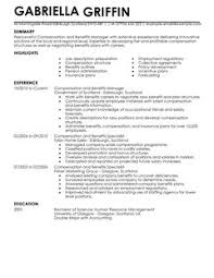 compensation and benefits cv example for human resources   livecareer    are  able as adobe pdf  ms word doc  rich text  plain text  and web page html formats  click to enlarge image livecareer cv example directory