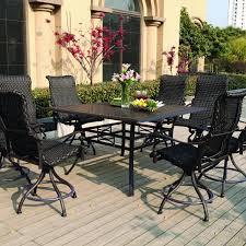outdoor furniture patio sets shop at hayneedlecom bar height attractive high dining sets