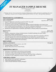 it manager resume technical it director resume example resume it wwwqhtypm it manager resume example