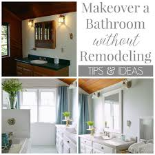 bathroom refresh:  how to make over a bathroom without remodeling x
