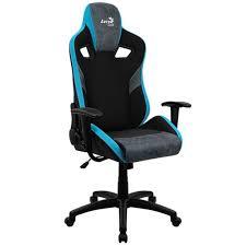 <b>Компьютерное кресло Aerocool Count</b> (Черный / голубой) купить ...